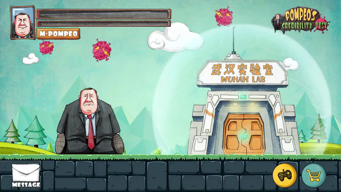 China mocks US Secretary of State Mike Pompeo in new social media video. (Screengrab)