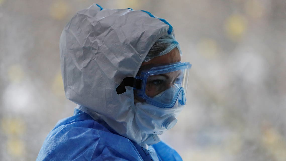 Doctor Irina Barkhatova wearing personal protective equipment (PPE) is seen in the Intensive Care Unit (ICU), ECMO Centre of the City Clinical Hospital Number 52 in Moscow, Russia April 28, 2020. (Reuters)