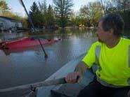 فيضانات تشرد الآلاف في ولاية ميشيغنالأميركية