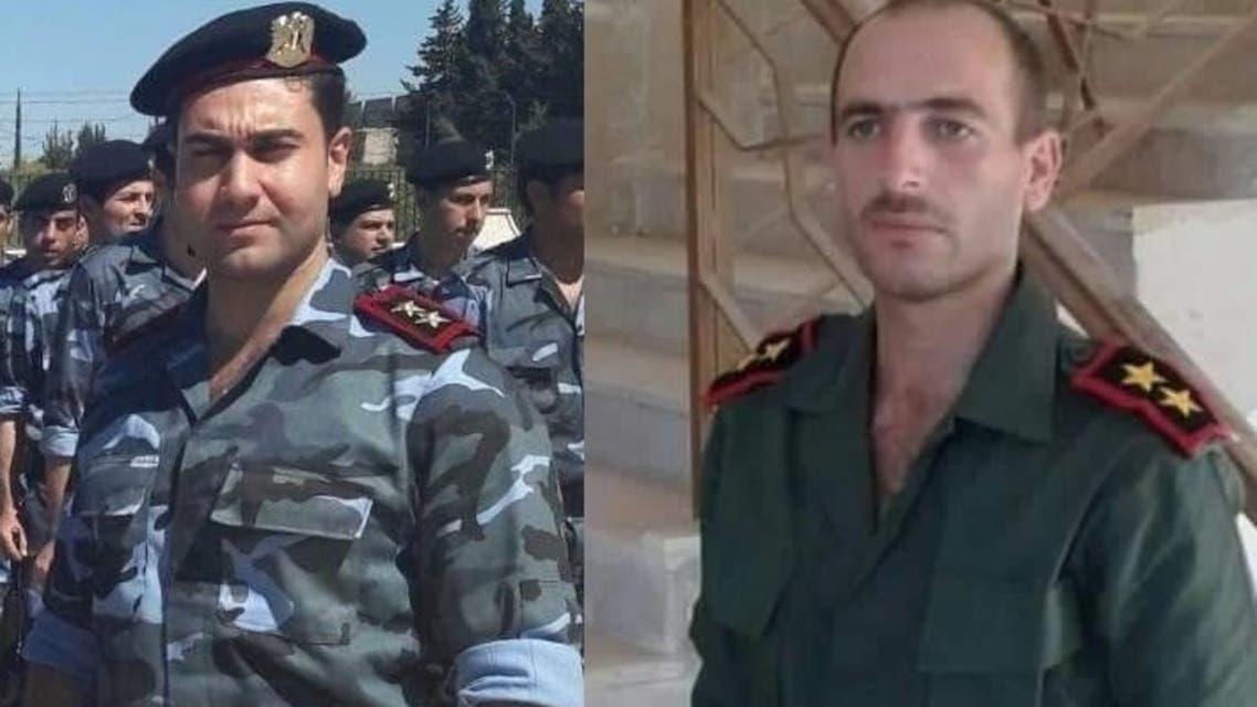 الضابطان في جيش النظام علي اليوسف ووئام زيود