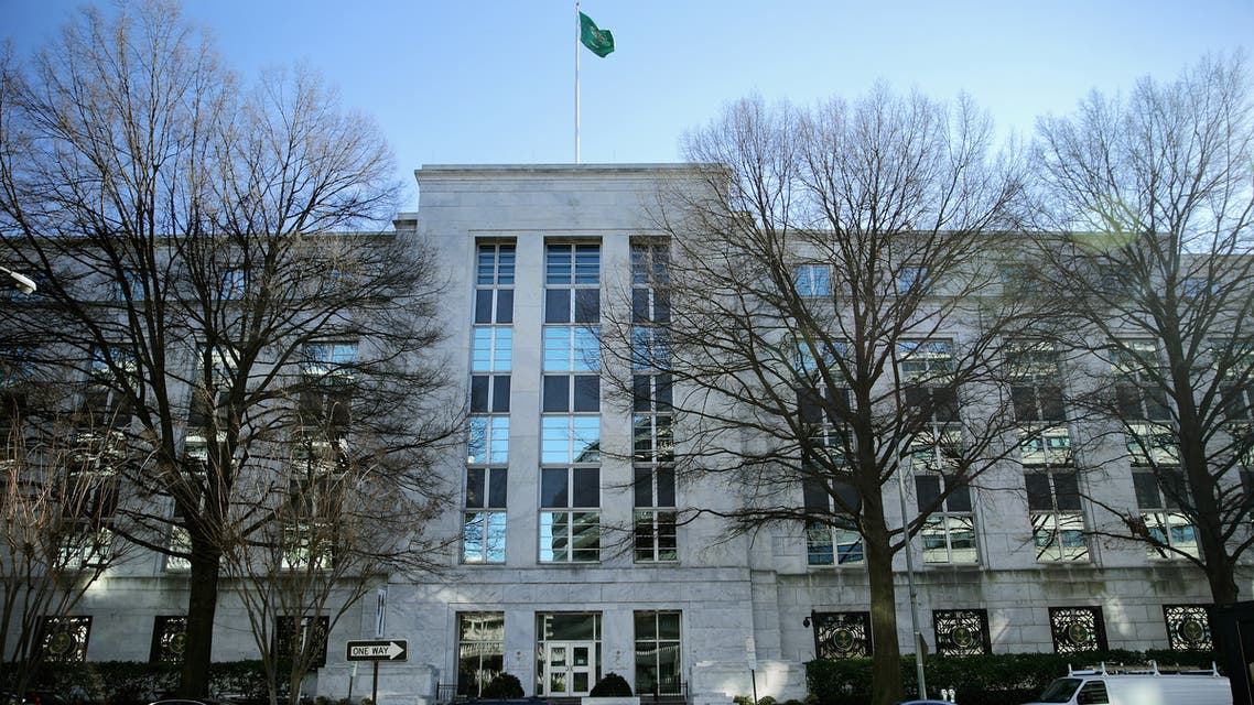 WASHINGTON, DC - JANUARY 04: The Kingdom of Saudi Arabia's embassy in the United States stands in the Foggy Bottom neighborhood near the Kennedy Center for the Performing Arts and the Watergate complex January 4, 2016 in Washington, DC. Saudia Arabia severed diplomatic ties with Iran after protesters ransacked and set fire to its embassy in Tehran on Saturday, along with the Saudi Consulate in IranÕs second-largest city, Mashhad, after the Saudis executed a Shiite cleric, Sheikh Nimr al-Nimr. Chip Somodevilla/Getty Images/AFP