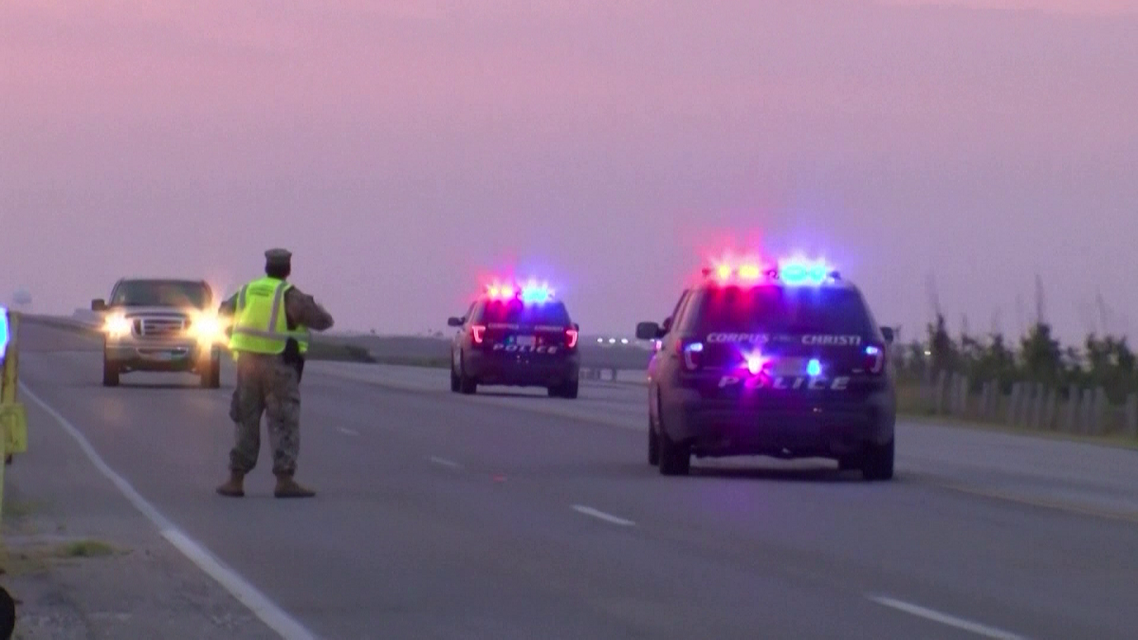 Emergency vehicles respond to shooting at Naval Air Station Corpus Christi in the US state of Texas. (AFP) 222