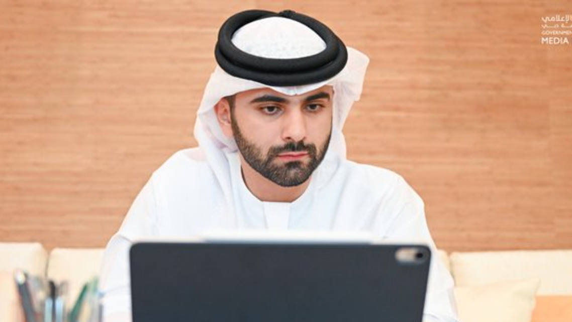 Sheikh Mansoor bin Mohammed chairs Dubai's Supreme Committee of Crisis and Disaster Management meeting. (Dubai Media Office, Twitter)