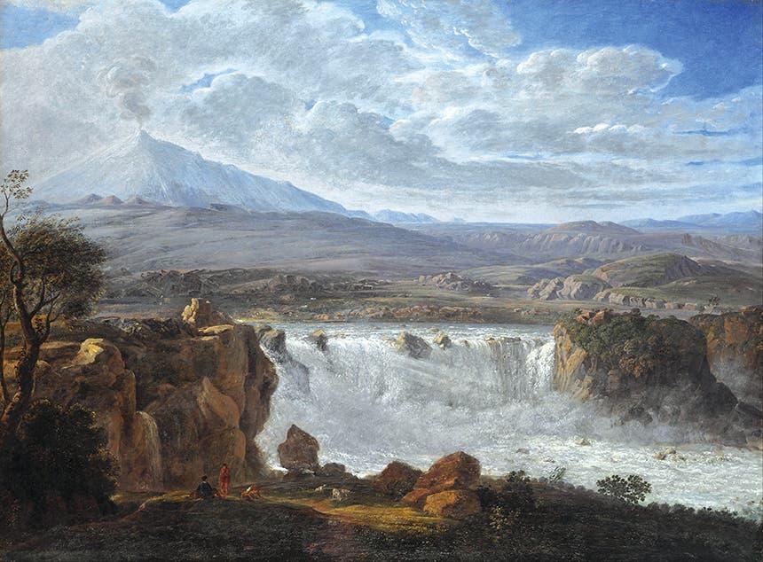 كارل غوتارد غراس، شلال كاراتشي بالقرب من أديرنو عند سفح جبل إتنا