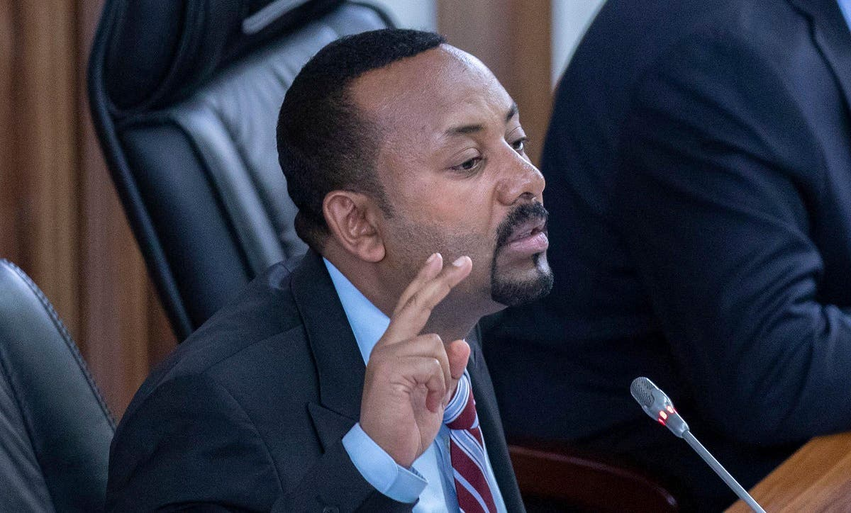 Ethiopian Prime Minister Abiy Ahmed addressing members of parliament inside the Parliament buildings, in Addis Ababa, Ethiopia. (File photo: AFP)