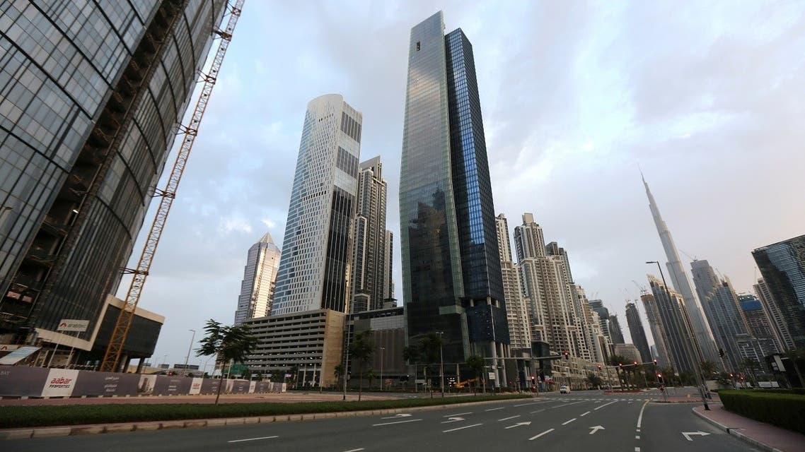 General view of Business Bay area, after a curfew was imposed to prevent the spread of the coronavirus disease (COVID-19), in Dubai. (Reuters)