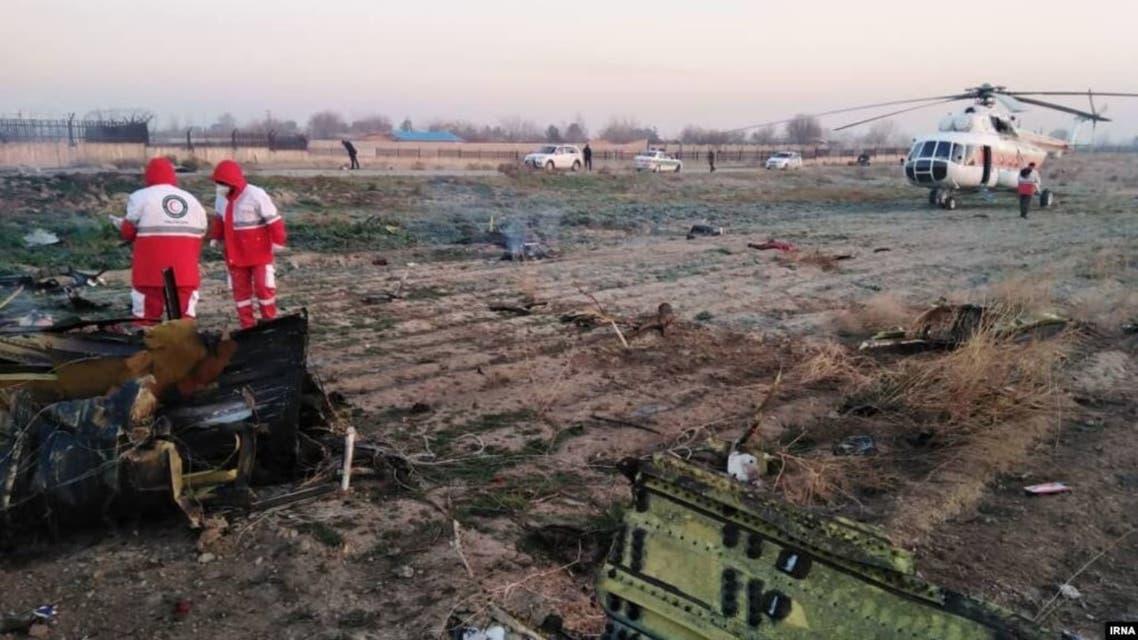 حطام الطائرة الاوكرانية