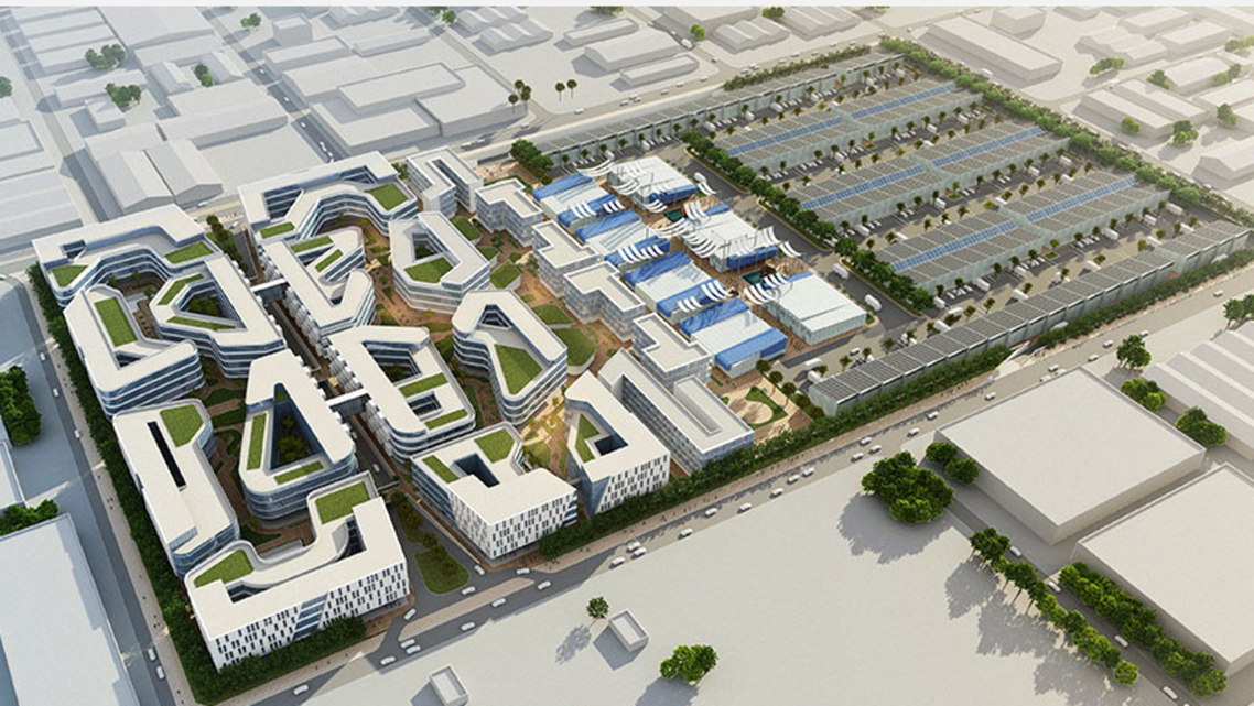 A virtual rendering of the new Commercity shown on the official website. (Screengrab)
