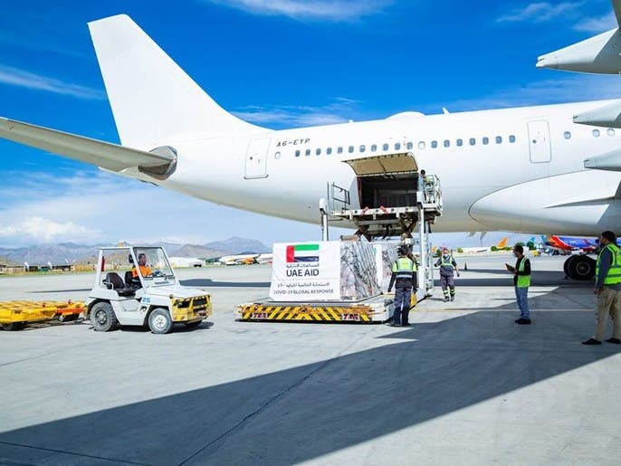 با افزایش آمار کرونا در افغانستان کمکهای بهداشتی امارات به کابل رسید