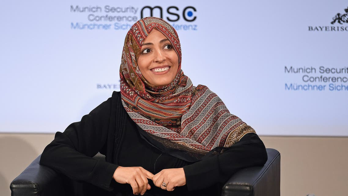 Tawakkol Karman attends the annual Munich Security Conference in Munich, Germany February 17, 2019. (Reuters)