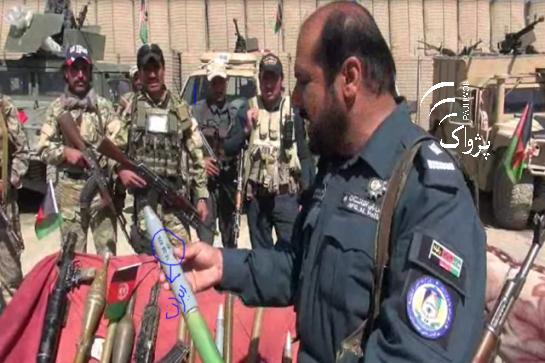 أسلحة وذخيرة أيرانية عثر عليها بيد طالبان