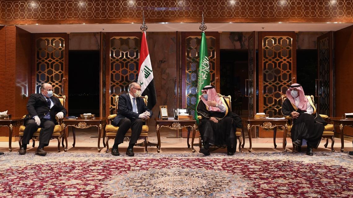 Iraqi delegates to Saudi Arabia meet at distance. (Twitter, SPAregions)