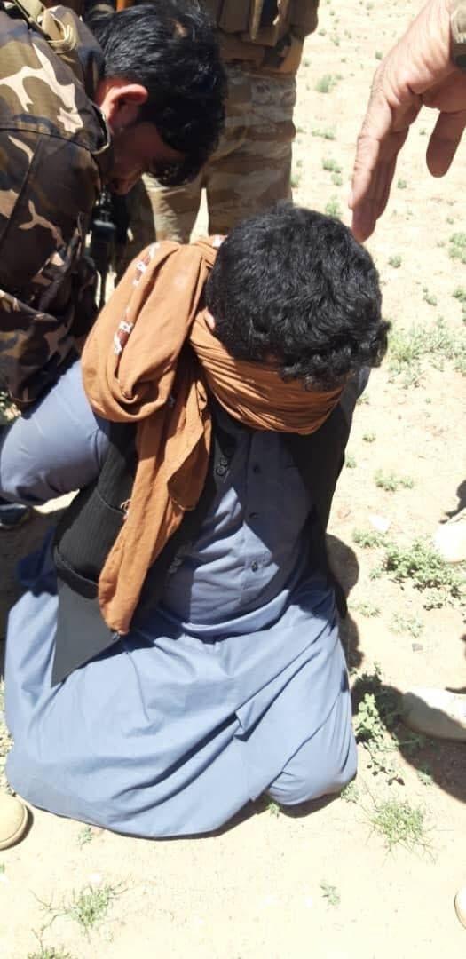 شفيع الذي أعتقل اليوم حسب صورة نشرته مديرية الامن الافغانية