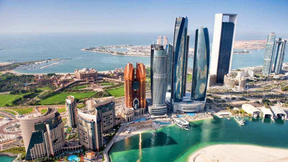 Abu Dhabi's skyline featuring some of the city's most prominent hotels. (WAM)