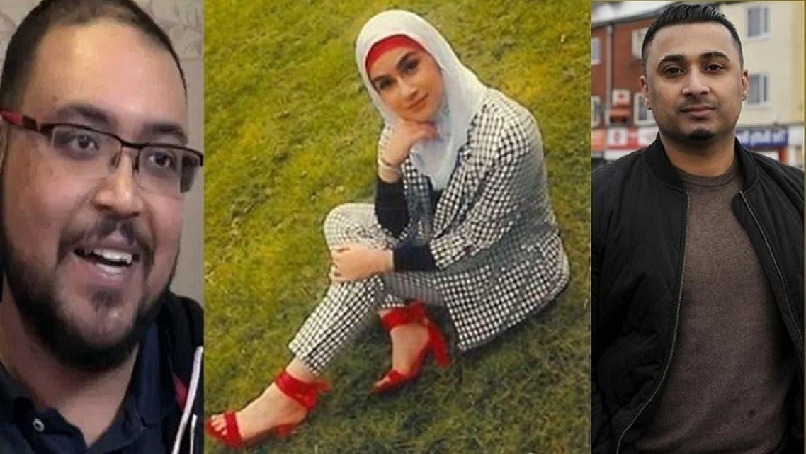 آية هاشم، والمتهمان الرئيسيان بقتلها، فيرز سليمان وأبو بكر ساتيا