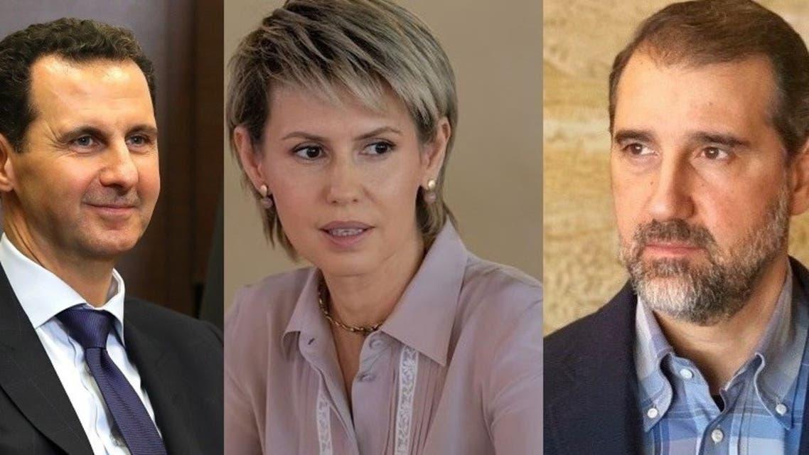 رامي مخلوف وبشار الأسد وزوجته