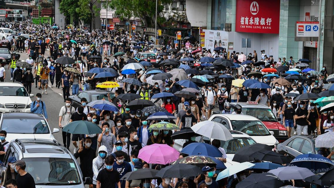 تظاهرات في هونغ كونغ احتجاجا على قانون بكين (24 مايوم 2020- فرانس برس)