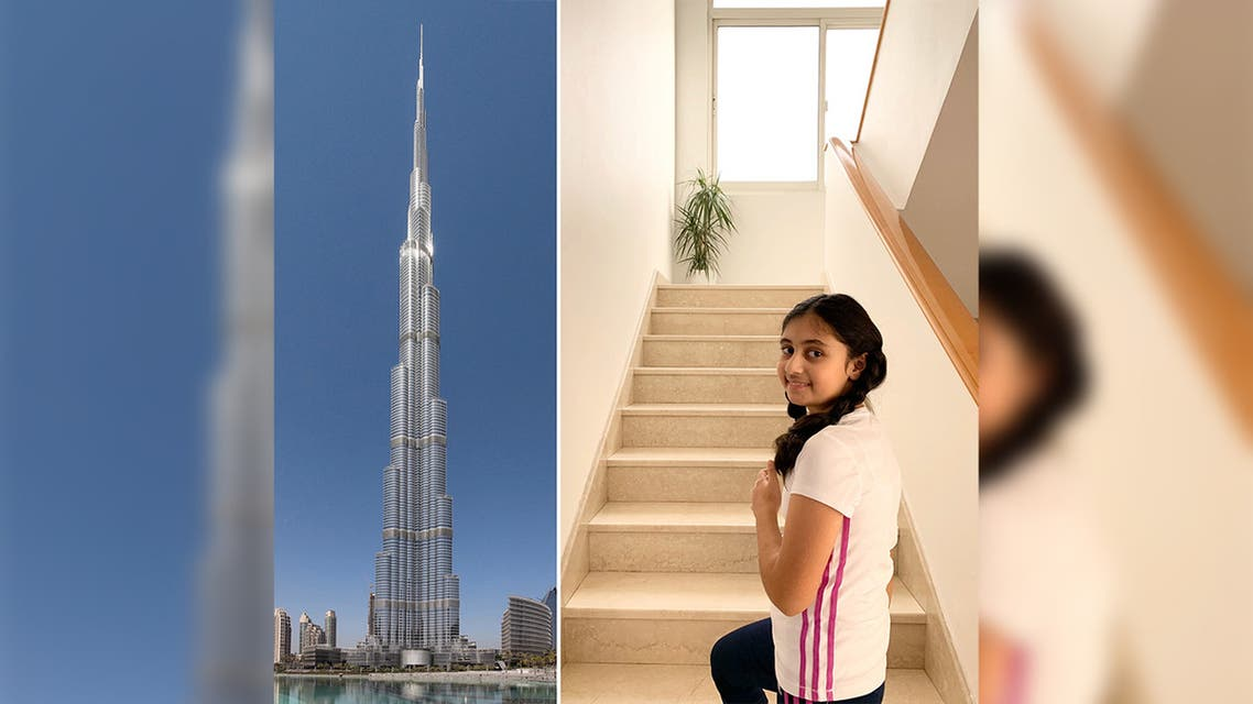 Girl runs Burj Khalifa
