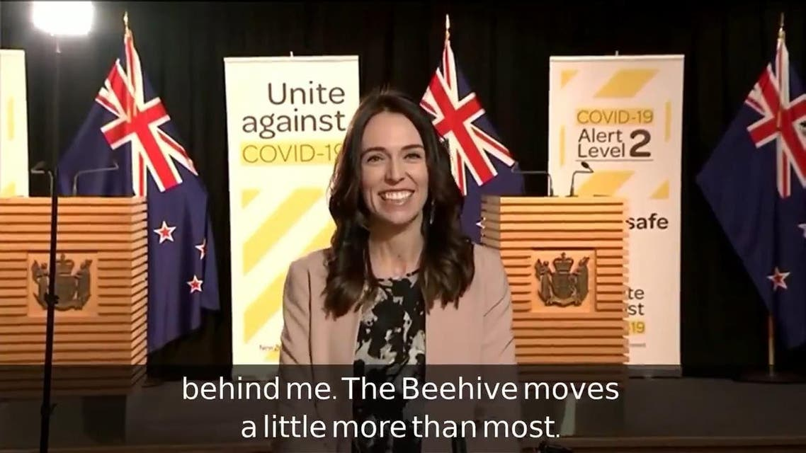 THUMBNAIL_ New Zealand's Ardern braves earthquake during live TV interview