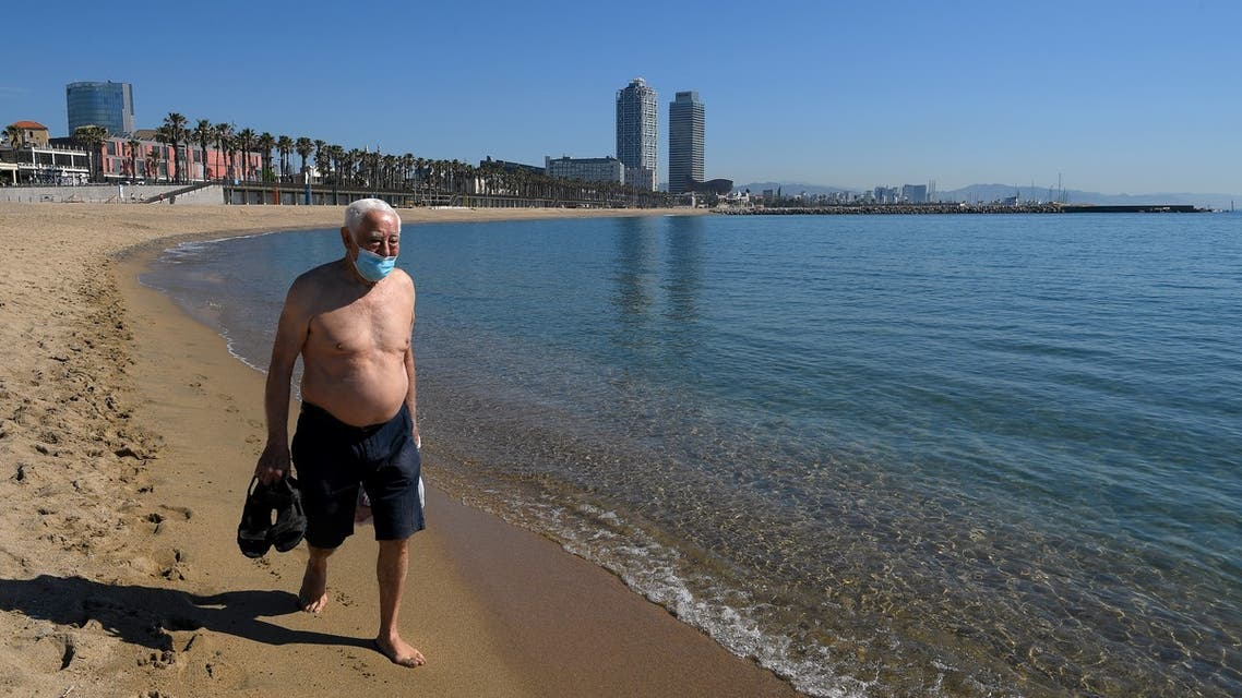 شواطئ أوروبا كورونا