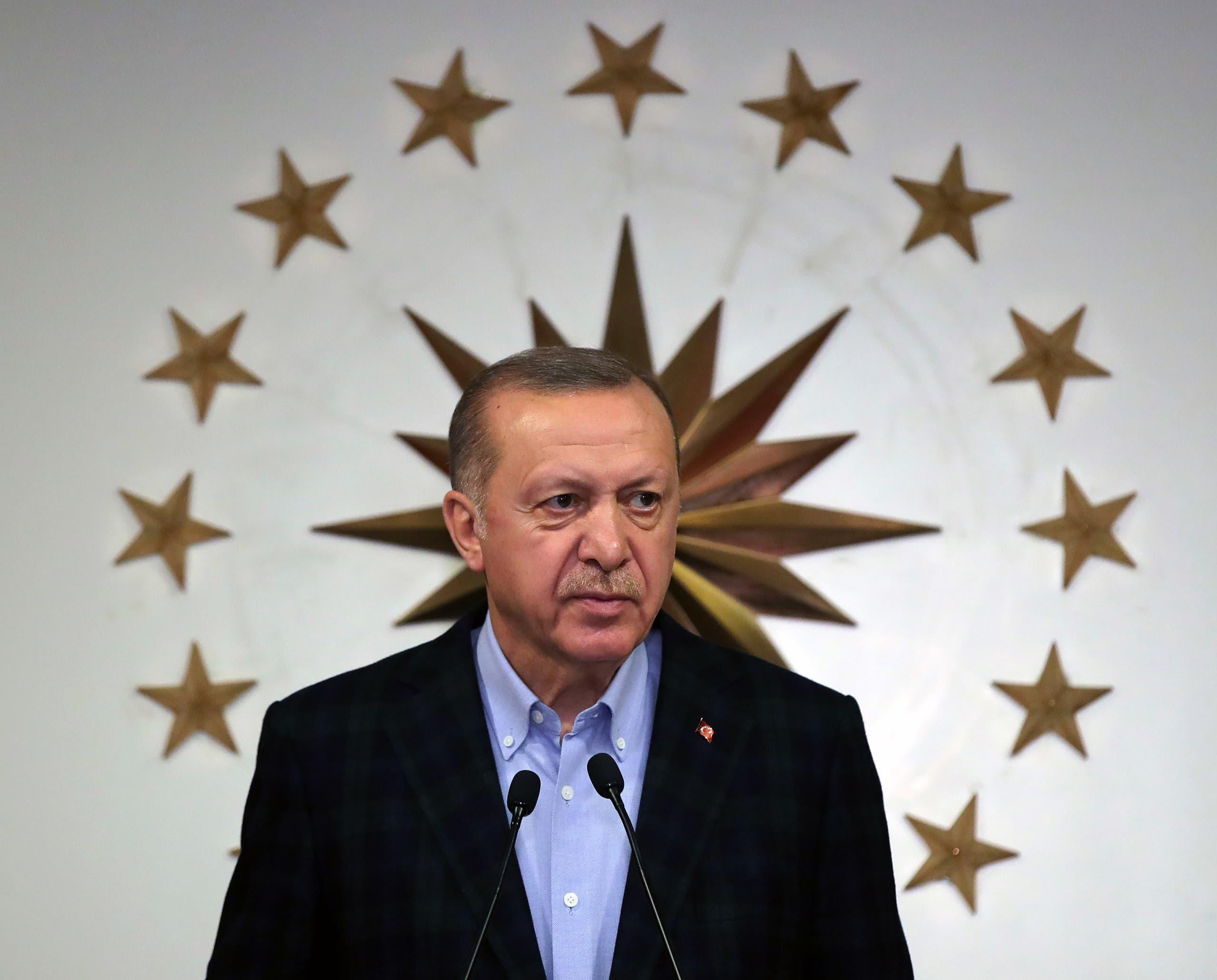 الرئيس التركي رجب طيب أردوغان أرشيفية- فرانس برس)