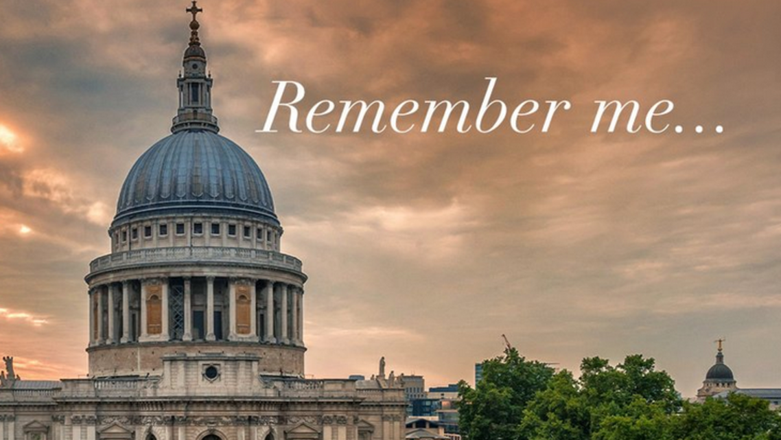 The homepage of the Remember Me memorial launched by St. Paul's Cathedral in London. (Screengrab)