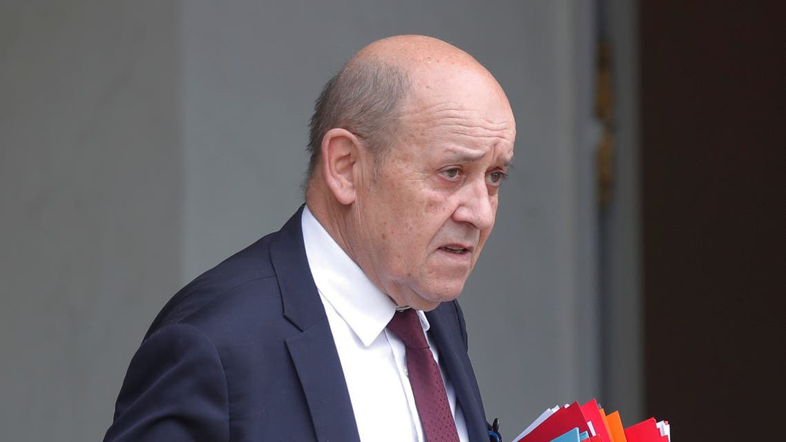 French Foreign Minister Jean-Yves Le Drian leaves after the weekly cabinet meeting at the Elysee Palace in Paris, France March 4, 2020. (Reuters)