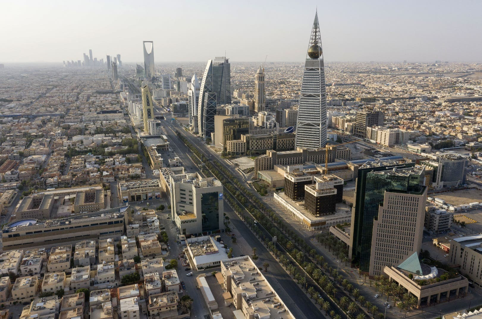An aerial view of the Saudi capital Riyadh, on May 24, 2020. (AFP)