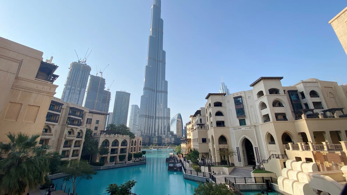 A general view shows the area outside the Burj Khalifa, the world's tallest building, mostly deserted, after a curfew was imposed to prevent the spread of the coronavirus, in Dubai, United Arab Emirates March 25, 2020. (Reuters)
