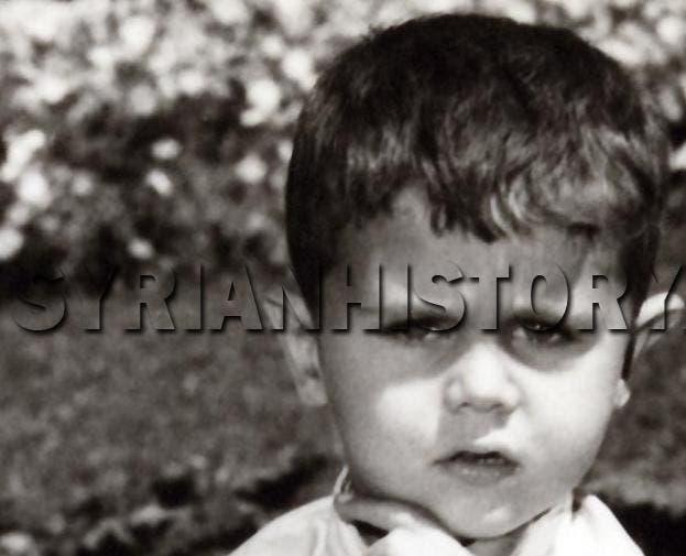 الطفل بشار الأسد