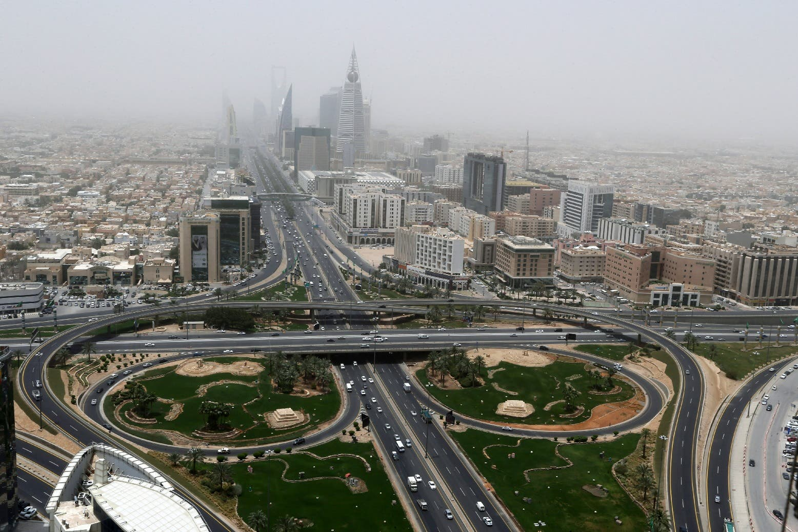 General view of Riyadh city, after the Saudi government eased a curfew, following the outbreak of the coronavirus, in Riyadh, Saudi Arabia, May 7, 2020. (Reuters)