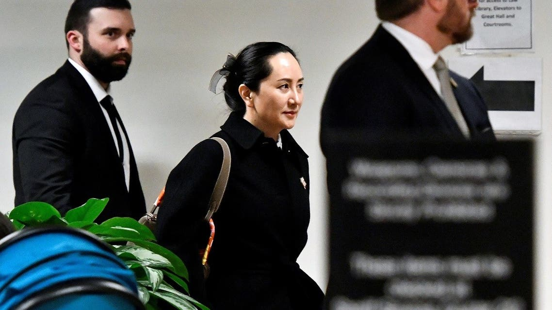 Huawei Chief Financial Officer Meng Wanzhou leaves B.C. Supreme Court following her extradition hearing in Vancouver. (Reuters)