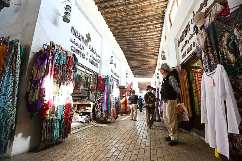 The restored souk in the Heart of Sharjah project reviving some of the ancient markets in the Gulf region. (Courtesy Shurooq)