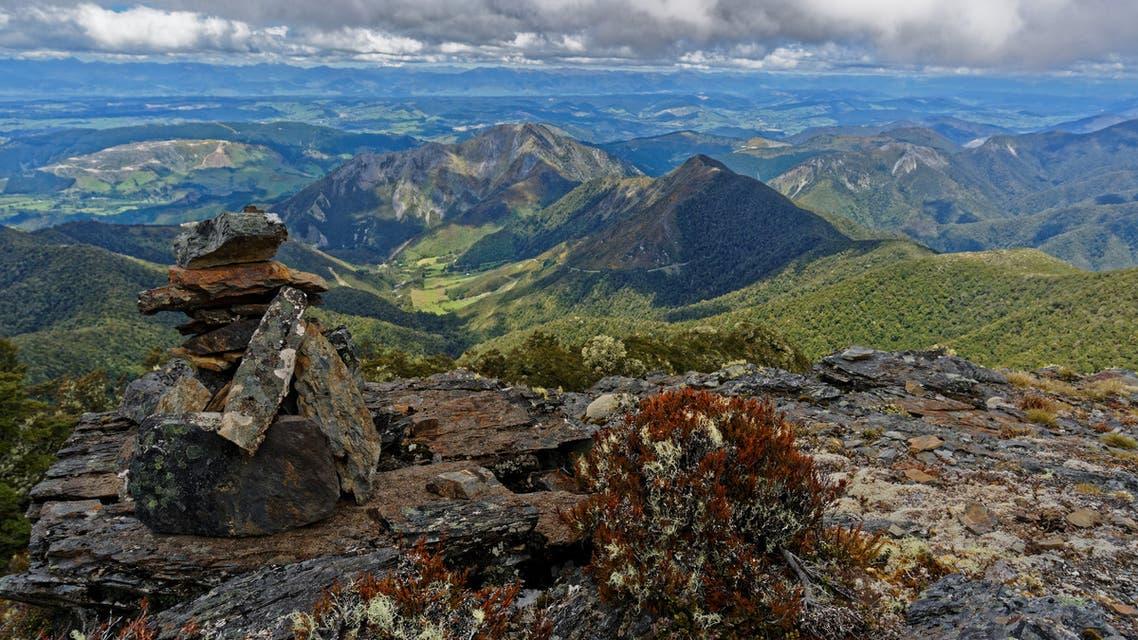 Lodestone summit, Kahurangi National Park, New Zealand stock photo