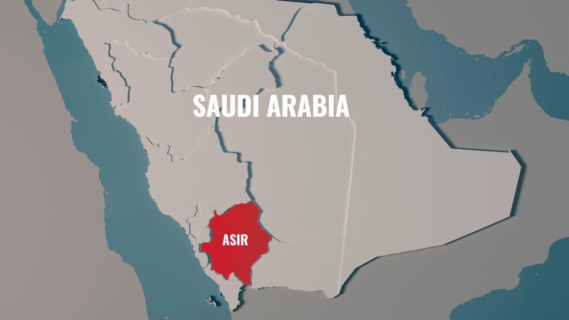 Asir, Saudi Arabia map