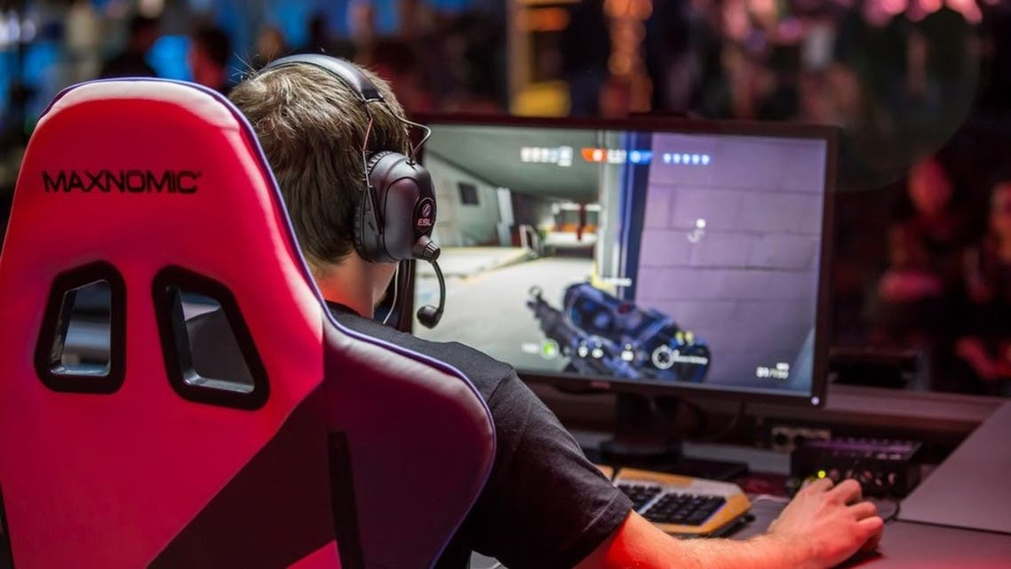 A gamer playing in a Gamers Without Borders tournament. (Supplied)
