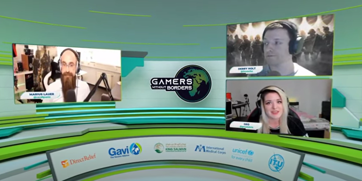 The Gamers Without Borders virtual studio. (Supplied)