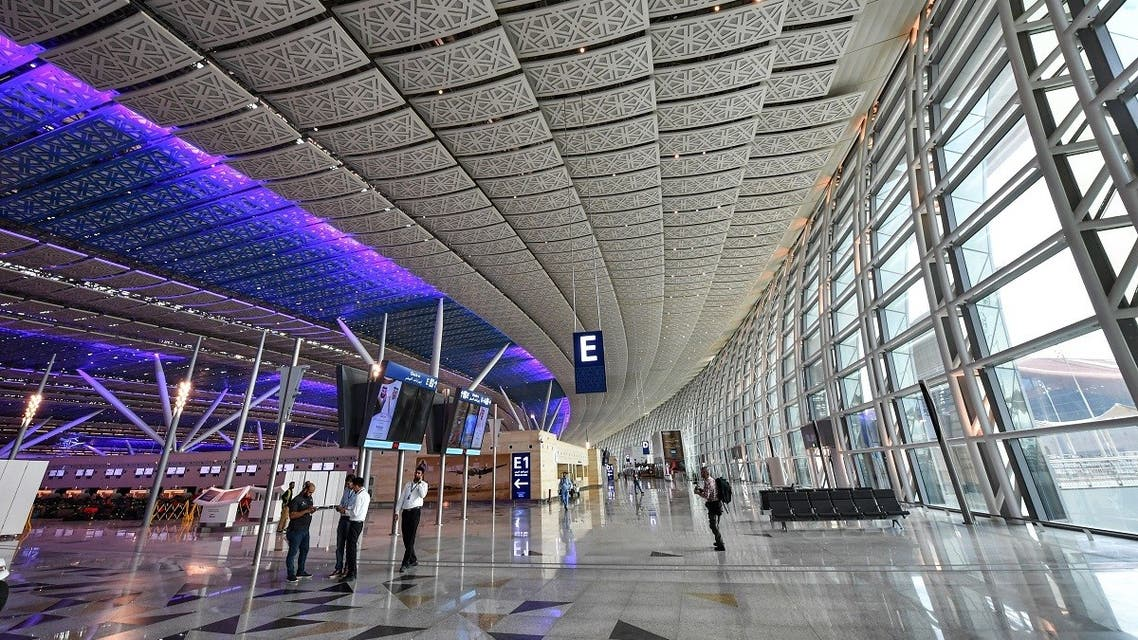 This picture taken on December 12, 2019 shows a view of a check-in area at a terminal in Saudi Arabia's King Abdulaziz International Airport in Jeddah. (File photo: AFP)