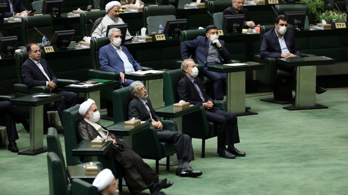 A general view of the Iranian parliament, during the opening ceremony of Iran's 11th parliament, as the spread of the coronavirus disease (COVID-19) continues, in Tehran, Iran, May 27, 2020. WANA (West Asia News Agency) via REUTERS ATTENTION EDITORS - THIS PICTURE WAS PROVIDED BY A THIRD PARTY