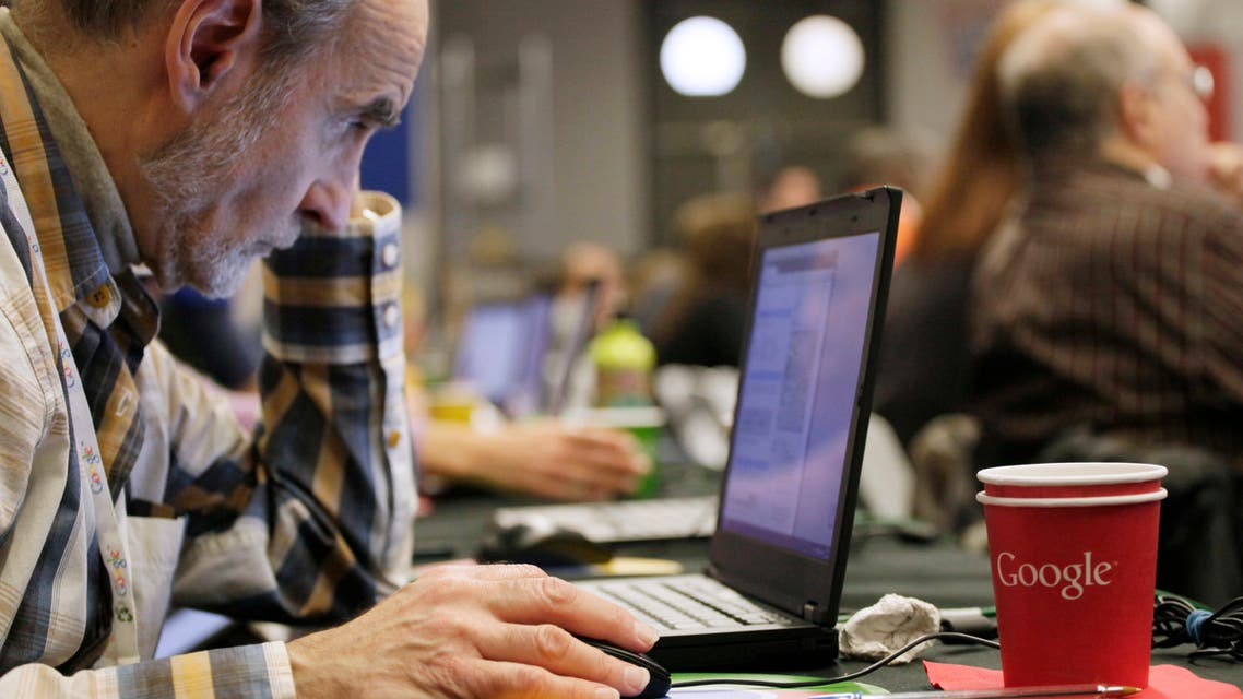 A man works on a laptop Google at Google offices, Oct. 17, 2012 in New York. (File photo: AP)