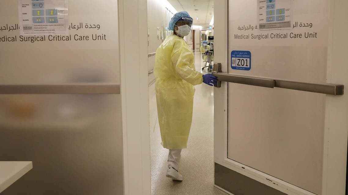 A nurse wearing protective equipment enters the intensive care unit (ICU), amid the coronavirus disease (COVID-19) outbreak, at the Cleveland Clinic hospital in Abu Dhabi. (File photo: Reuters)