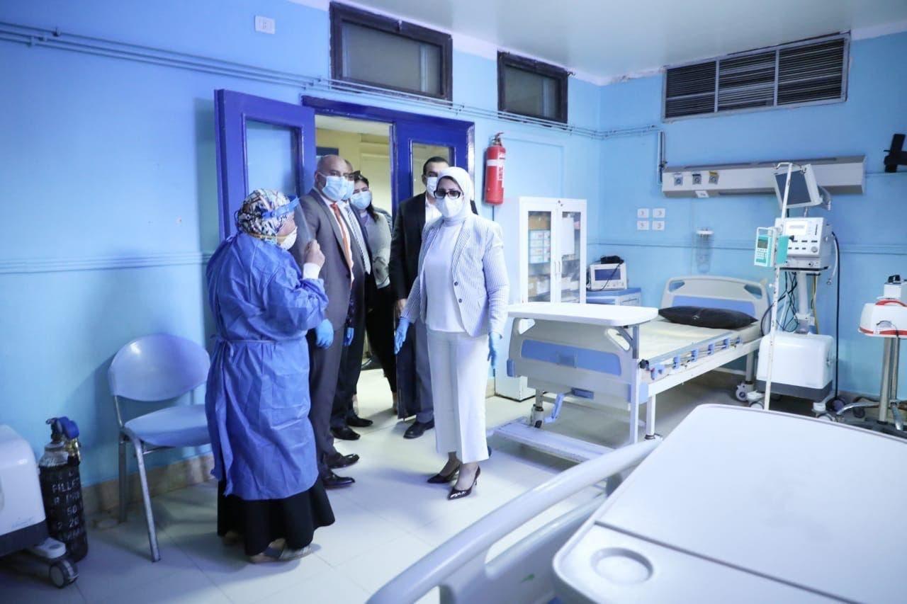 وزيرة الصحة تتفقد الإجراءات