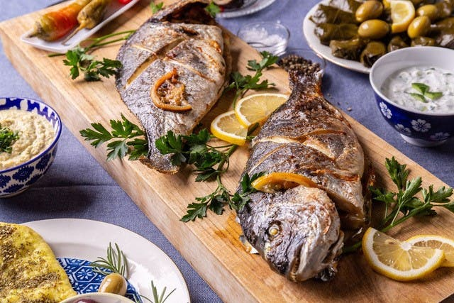 Mediterranean-style grilled fish by Elli's Kosher Kitchen. (Elli Kriel)