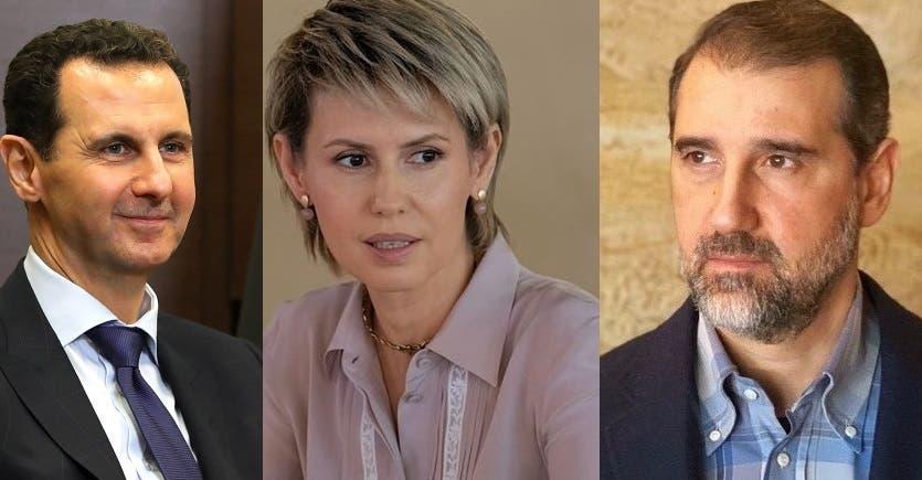 رامي مخلوف وأسماء الأخرس وبشار الأسد