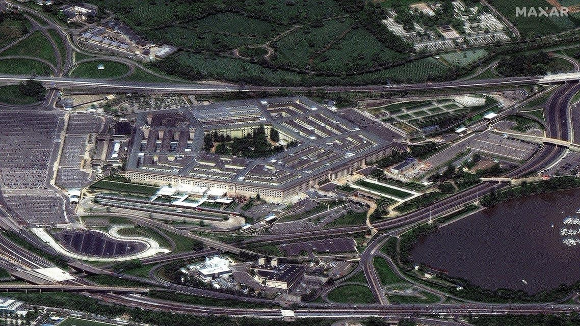 A satellite image taken by Maxar Technologies shows the Pentagon in Arlington. (Reuters)