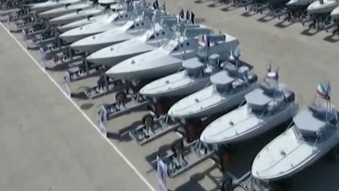 Iran's IRGC receives 110 new combat vessels. (AFP)