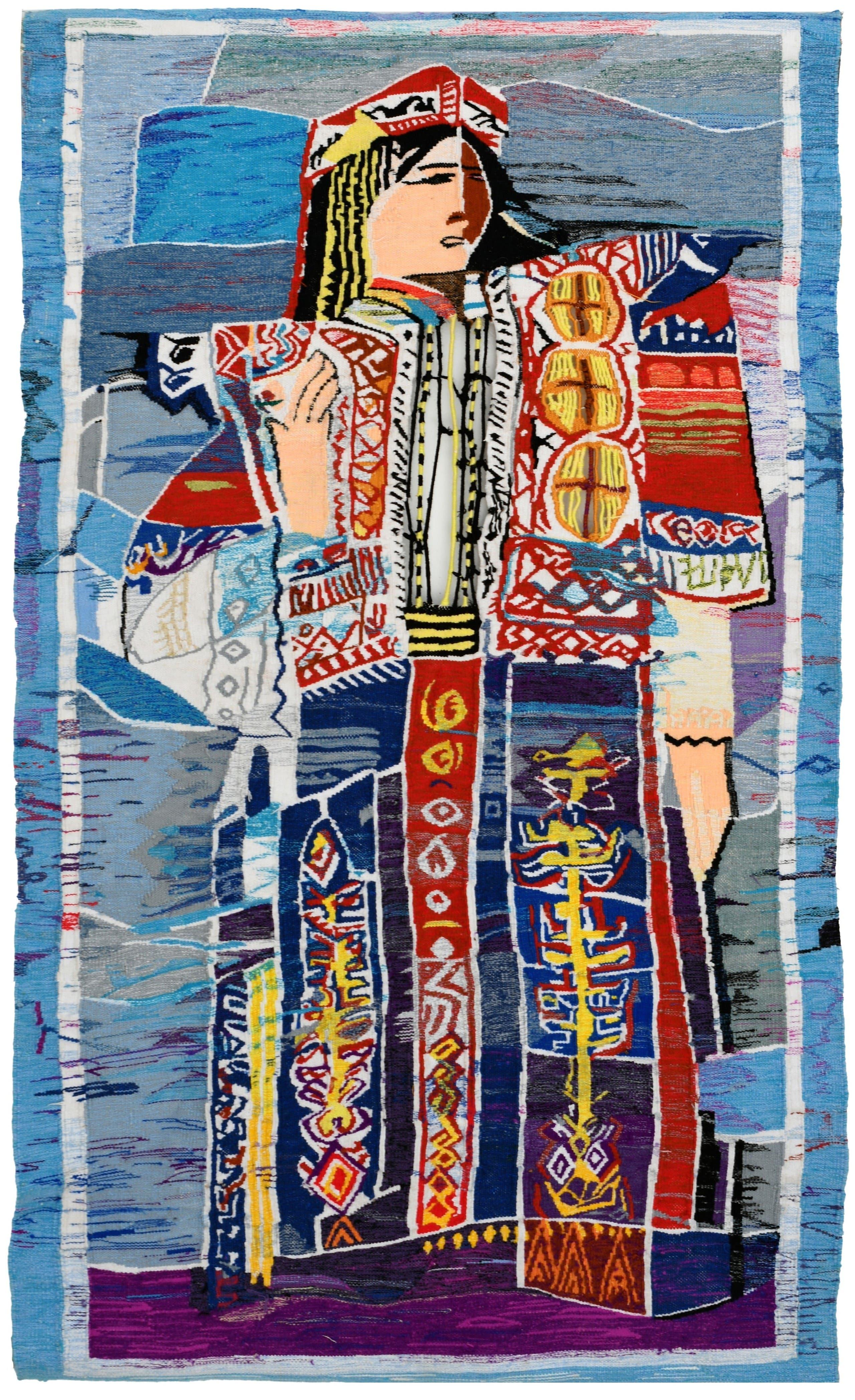 Safia Farhat, La Mariee, 1963, Tapestry, 172 x 100 cm. (Image courtesy of Barjeel Art Foundation, Sharjah.)