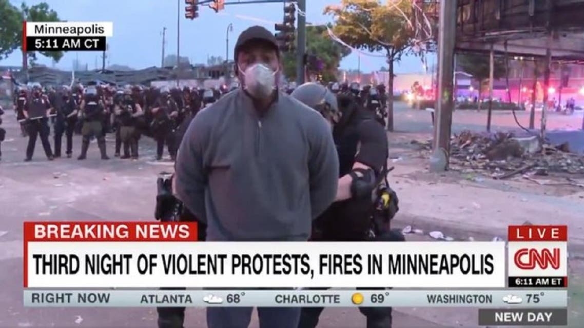 Minnesota State Patrol arrested a CNN reporter reporting live on television. (Twitter)
