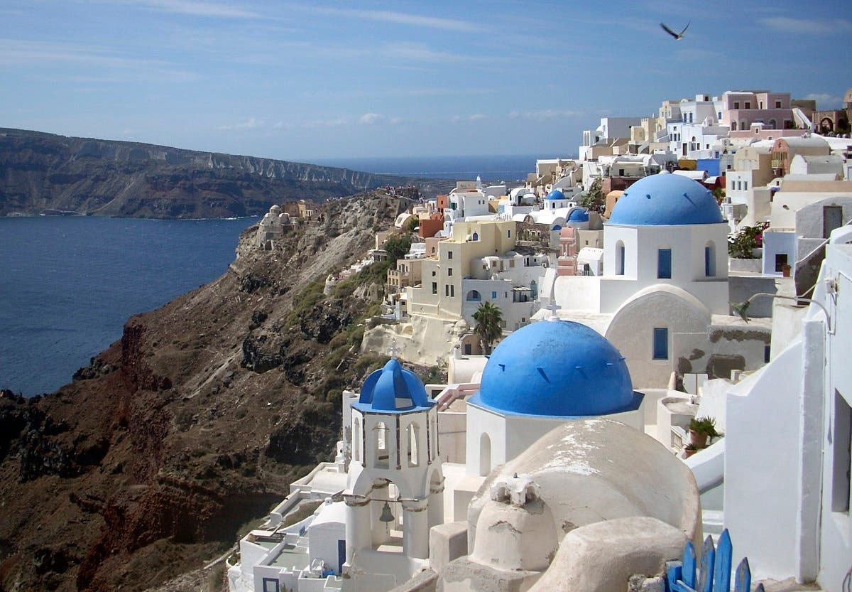 This Sept. 21, 2009, file photo, shows a view of Oia village on the island of Santorini, Greece. (AP)