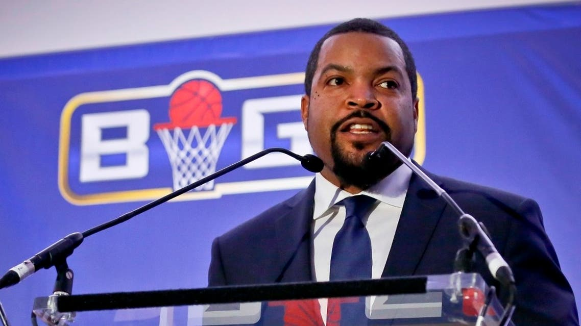 Ice Cube, co-founder of the Big3 Basketball league. (AP)